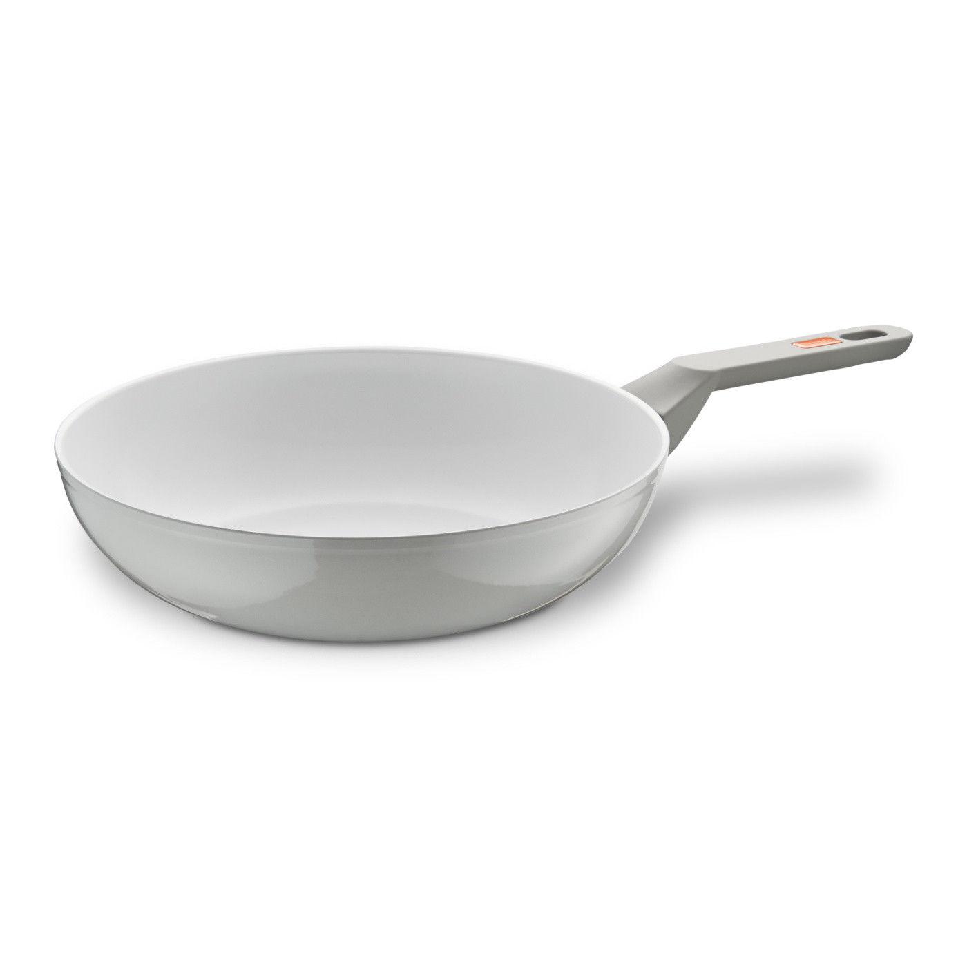 berndes veggie induction white wok wokpfanne pfanne 28 cm. Black Bedroom Furniture Sets. Home Design Ideas
