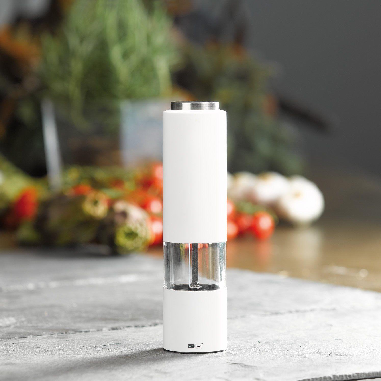 Ad Hoc Elektrische Pfeffer Oder Salzm/ühle Tropica Weiss Ceramic Mahlwerk Ceracut/®
