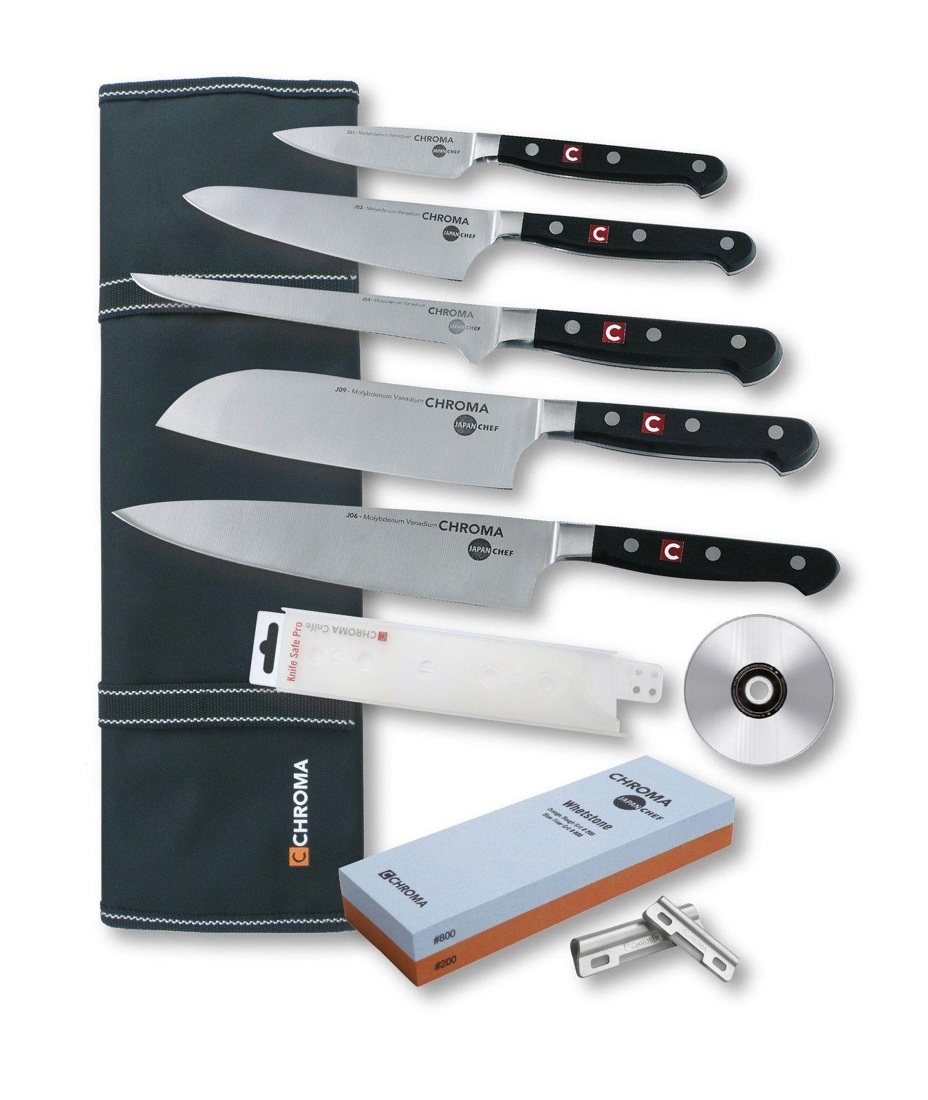 Chroma Japanchef Kochmesser Küchenmesser Set 10-teilig Azubi-Set neu ...